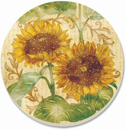 Counter Art Reflections of the Sun Coaster - 4 Pack - Yellow/Green Perspective: front