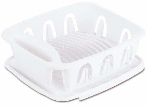 Sterilite Small Dish Draining Set - White Perspective: front