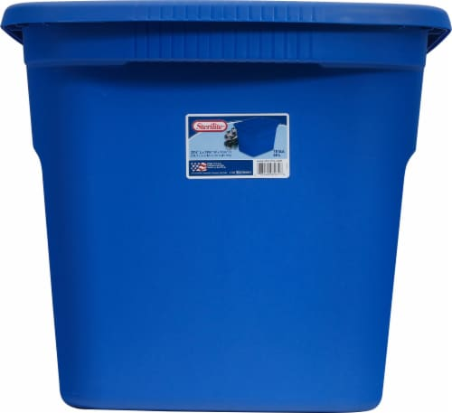Sterilite Tote Box with Lid - Blue Perspective: front