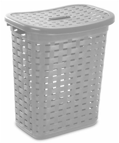 Sterilite Weave Laundry Hamper - Cement Perspective: front