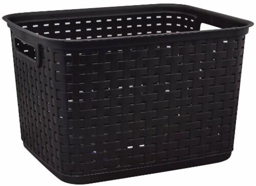 Sterilite Large Weave Basket - Espresso Perspective: front
