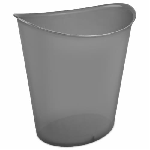 Sterilite Oval Wastebasket - Gray Perspective: front
