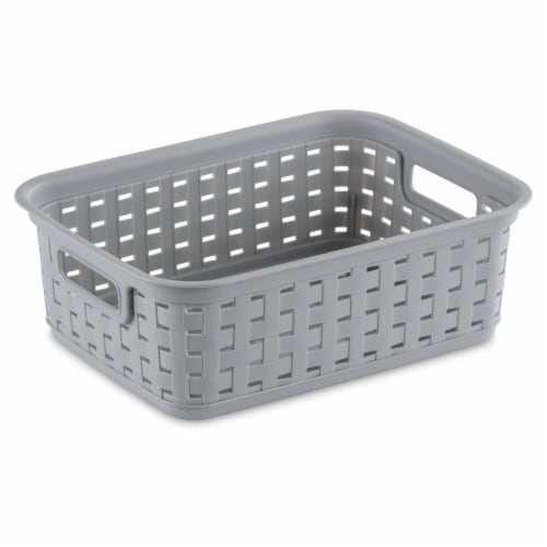 Sterilite Small Weave Basket - Cement Perspective: front