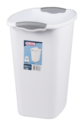 Sterilite Wastebasket - White Perspective: front