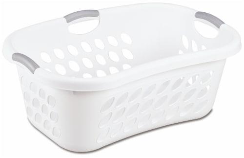 Sterilite Ultra HipHold 1.25-Bushel Laundry Basket - White Perspective: front