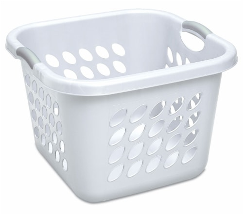 Sterilite Ultra Square Laundry Basket - White Perspective: front