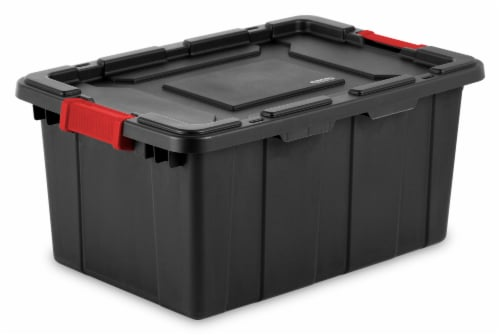 Sterilite Industrial Tote - Black Perspective: front