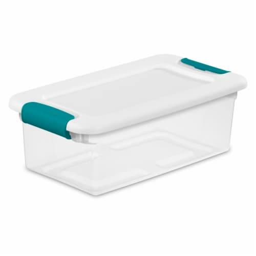 Sterilite Latching Storage Box - White / Clear Perspective: front