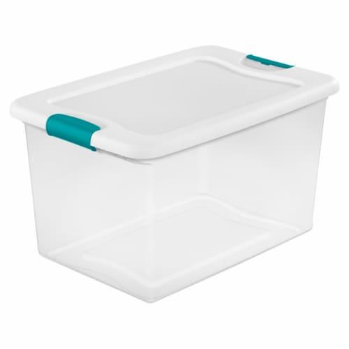 Sterilite Latch Box - Clear/White Perspective: front