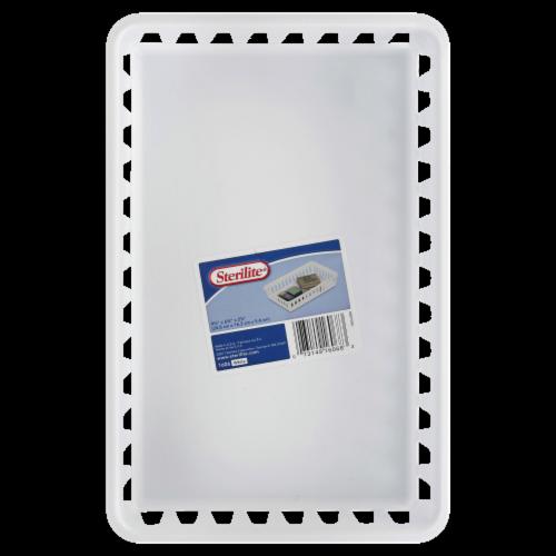 Sterilite Storage Tray - White Perspective: front