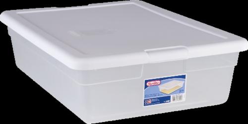 Sterilite Storage Box - Clear/White Perspective: front