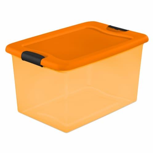 Sterilite Latch Storage Box - Orange Perspective: front