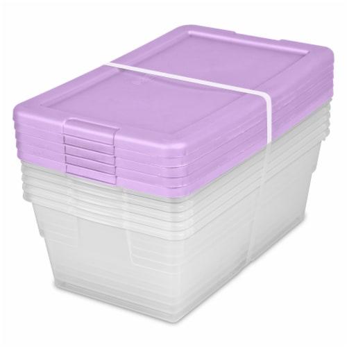 Sterilite 6-Quart Storage Boxes - Lilac Pixie Perspective: front