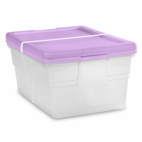 Sterilite 16-Quart Storage Boxes - Lilac Pixie Perspective: front