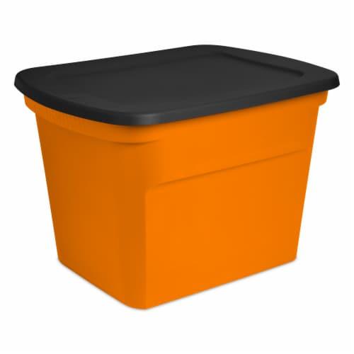 Sterilite Storage Tote - Orange/Black Perspective: front