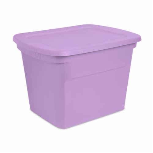 Sterilite Tote Box - Lilac Pixie Perspective: front