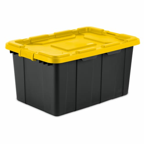 Sterilite Gasket Tote - Yellow Lily/Black Perspective: front
