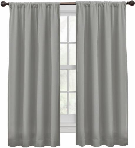 Maytex Jamie Smart Window Panel - Light Gray Perspective: front