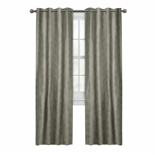 Maytex Mills Gwen with Gromm Curtains - Taupe Perspective: front