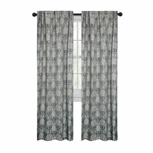 Maytex Mills Selene Wraparound Curtain - Charcoal Perspective: front