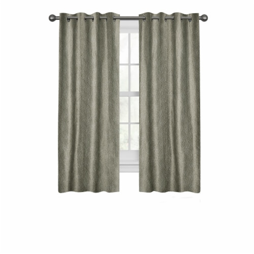 Maytex Gwen Curtains - Taupe Perspective: front