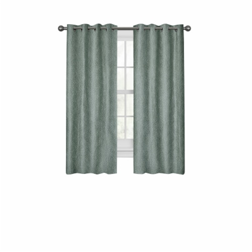 Maytex Mills Gwen with Gromm Curtains - Blue Perspective: front