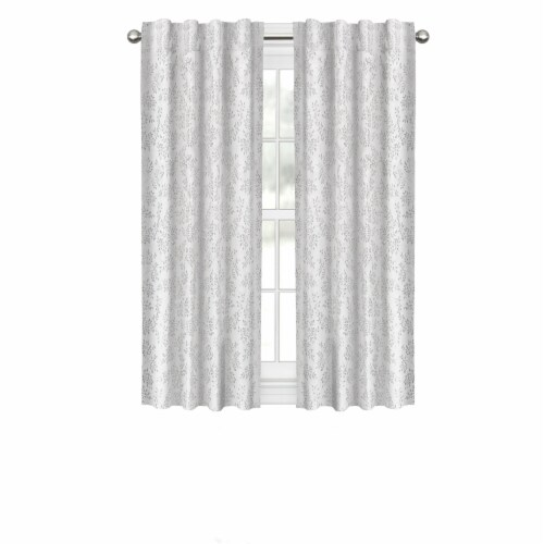 Maytex Mills Everly Easy Hang Curtain with Hooks - Silver Perspective: front