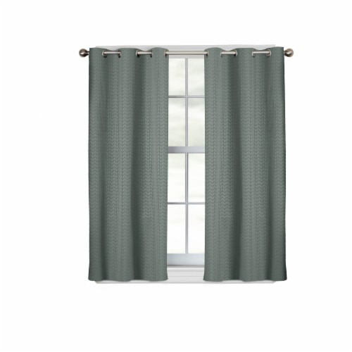 Maytex Mills Larson Easy Hang Curtains - Teal Perspective: front