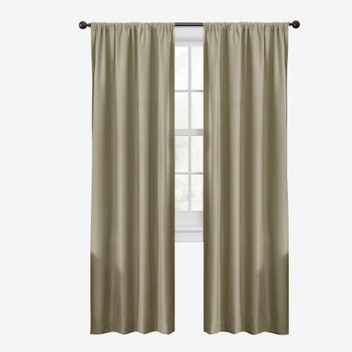 Maytex Mills Smart Julius Window Curtains - Tan Perspective: front