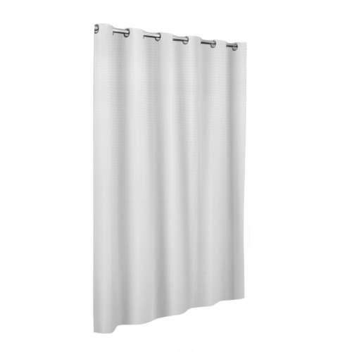 Maytex Mills InstaCurtain Stevenson Shower Curtain - White Perspective: front