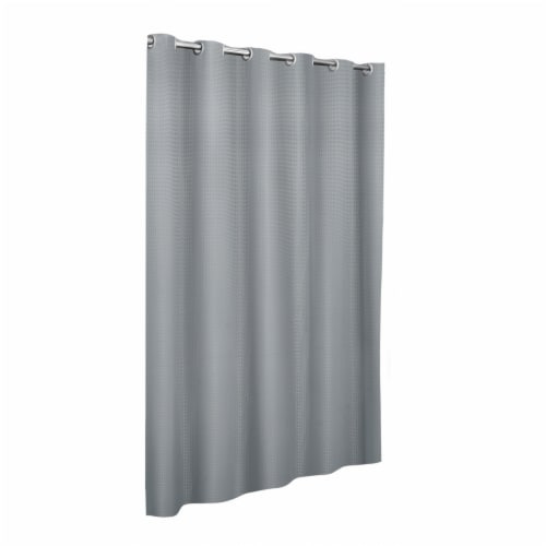 Maytex Mills InstaCurtain Stevenson Shower Curtain - Gray Perspective: front