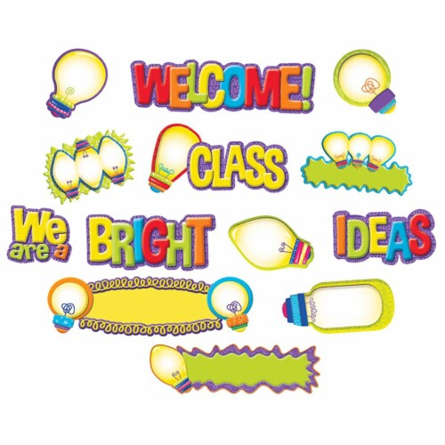 Color My World Light Bulb Mini Bulletin Board Set Perspective: front