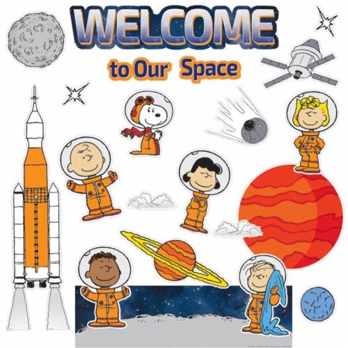 Peanuts® NASA Welcome Mini Bulletin Board Set Perspective: front