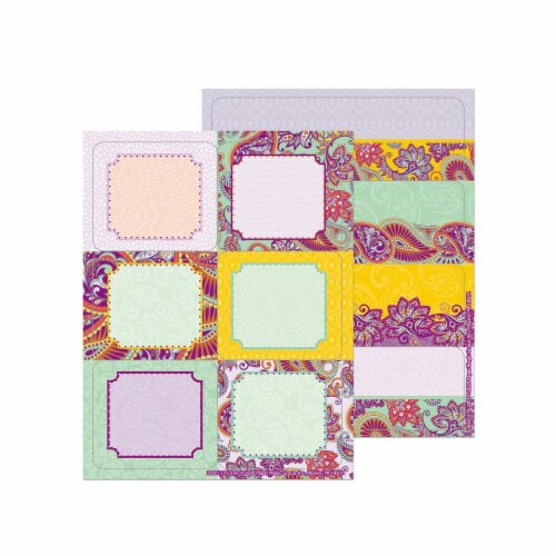Eureka EU-656157 Positively Paisley Stickers Label Perspective: front