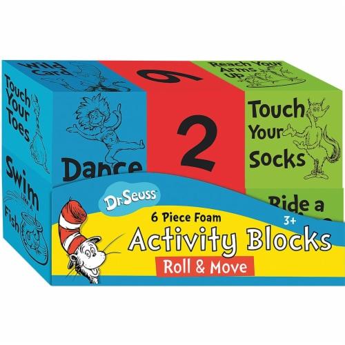 Eureka EU-867568 Dr Seuss Foam Activity Blcks Roll & Move Manipulatives Perspective: front