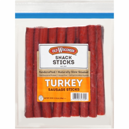 Old Wisconsin Turkey Snack Sticks Perspective: front