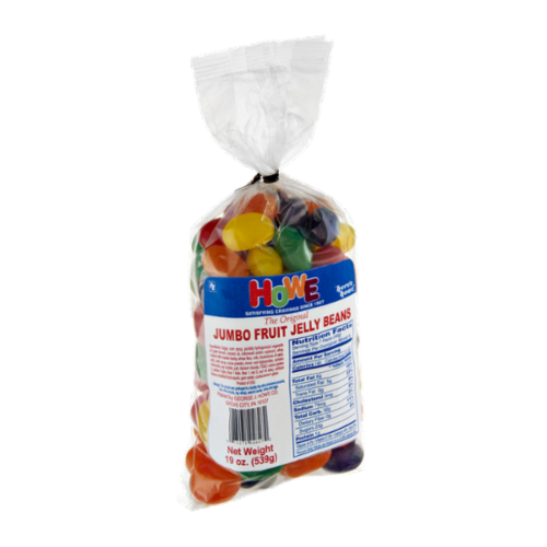 Howe Jumbo Fruit Jelly Beans Perspective: front