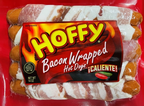 Hoffy Caliente Bacon Wrapped Hot Dogs Perspective: front