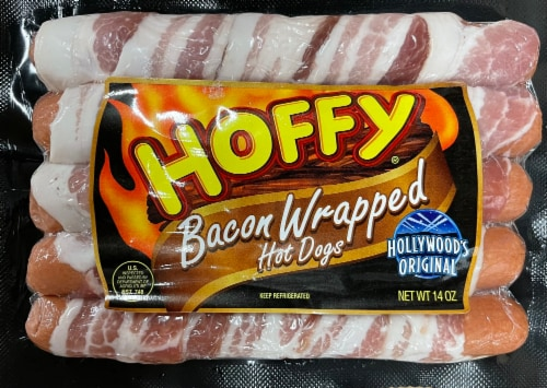 Hoffy Bacon Wrapped Hot Dogs Perspective: front