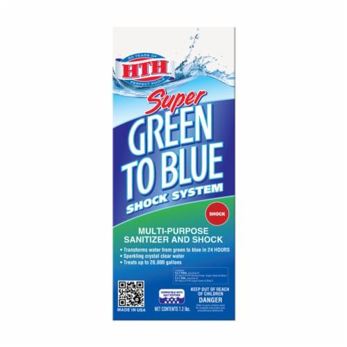 hth Green to Blue Super Granule Shock System 7.2 Perspective: front