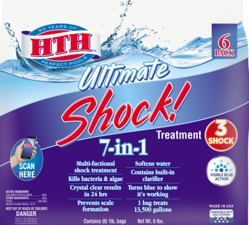 HTH Ultimate Shock! Water Treatment Perspective: front