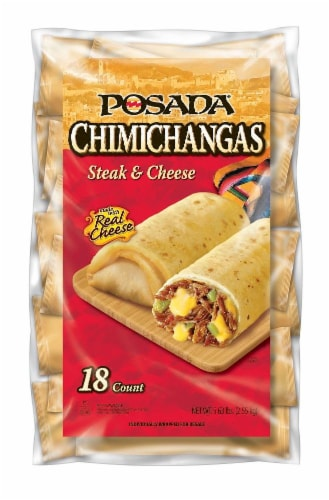 Posada Steak & Cheese Chimichangas Perspective: front