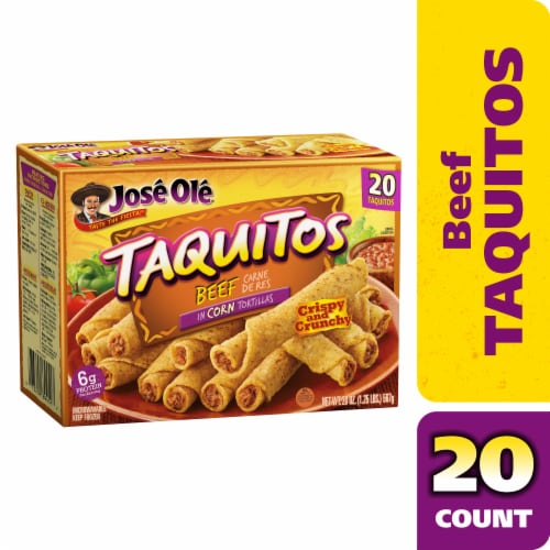 Jose Ole Corn Tortilla Beef Taquitos Perspective: front