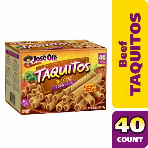 Jose Ole Shredded Beef Corn Taquitos Perspective: front