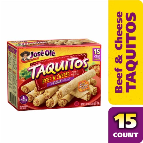 Jose Ole® Flour Tortilla Beef & Cheese Taquitos Perspective: front