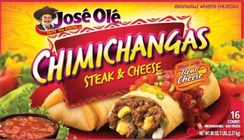 Jose Ole Steak & Cheese Chimichanga Perspective: front