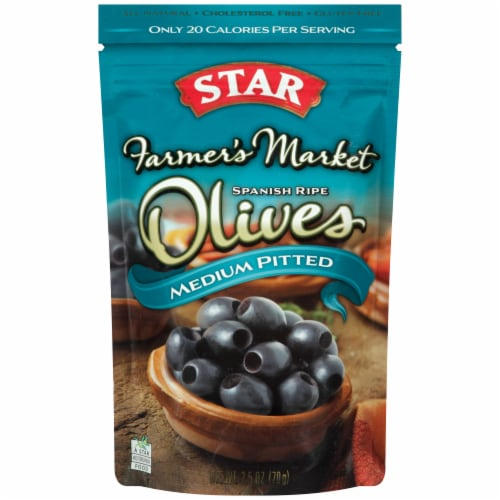 Star Farmer's Market Medium Pitted Spanish Olives Perspective: front