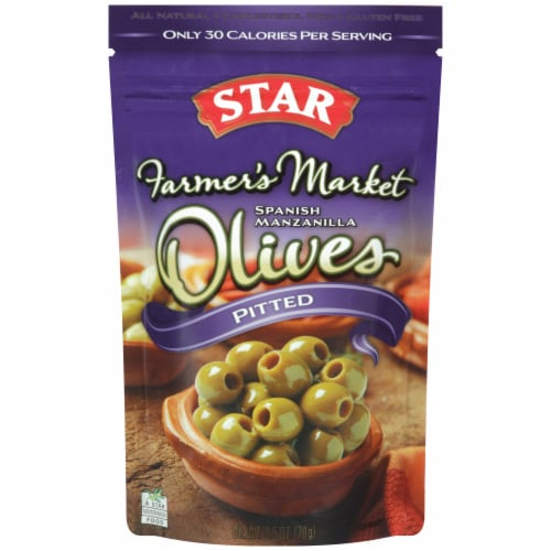 Star Farmer's Market Manzanilla Pitted Olives Perspective: front