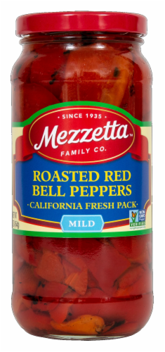 Mezzetta Roasted Red Bell Peppers Perspective: front