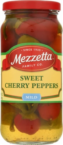 Mezzetta Sweet Cherry Peppers Perspective: front